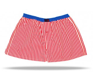Red White Stripes / Blue...