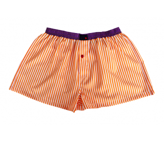 Orange White Stripes / Purple
